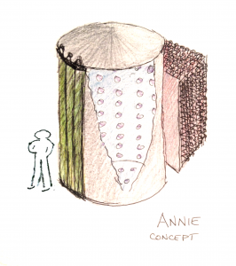 An early concept drawing of ANNIE detector